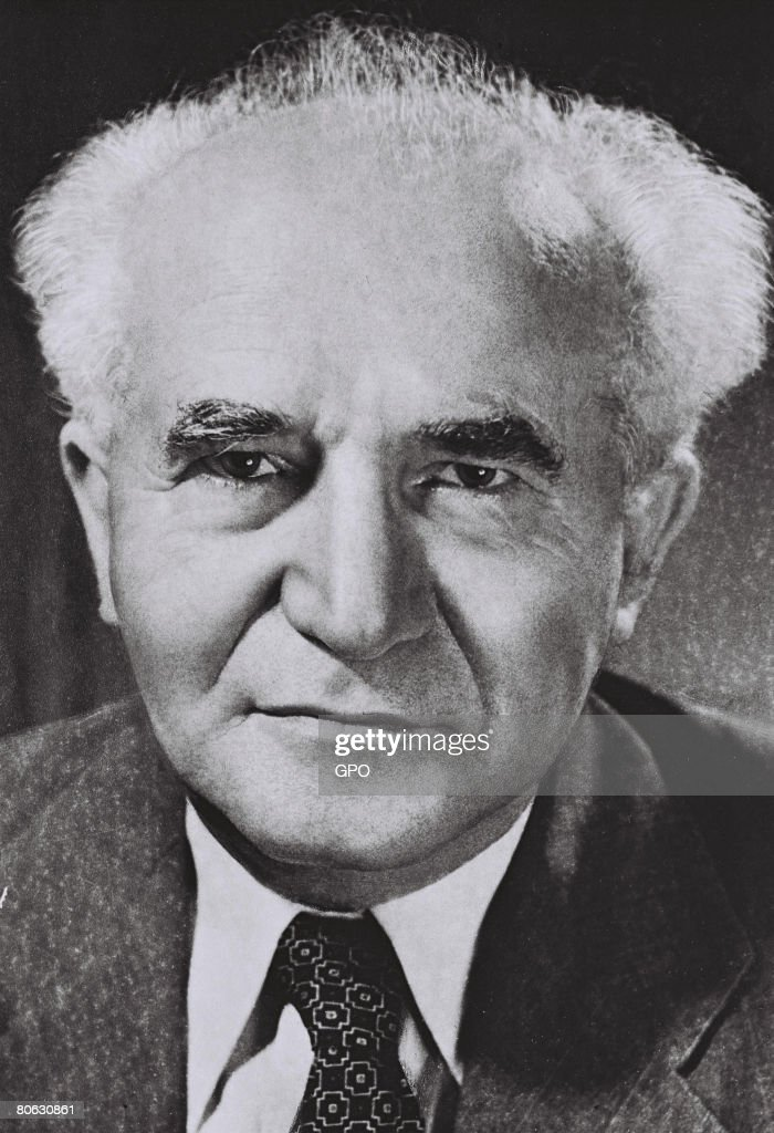 David Ben Gurion the first Prime Minister of the Jewish State on September 1 1949 in Tel Aviv Israel