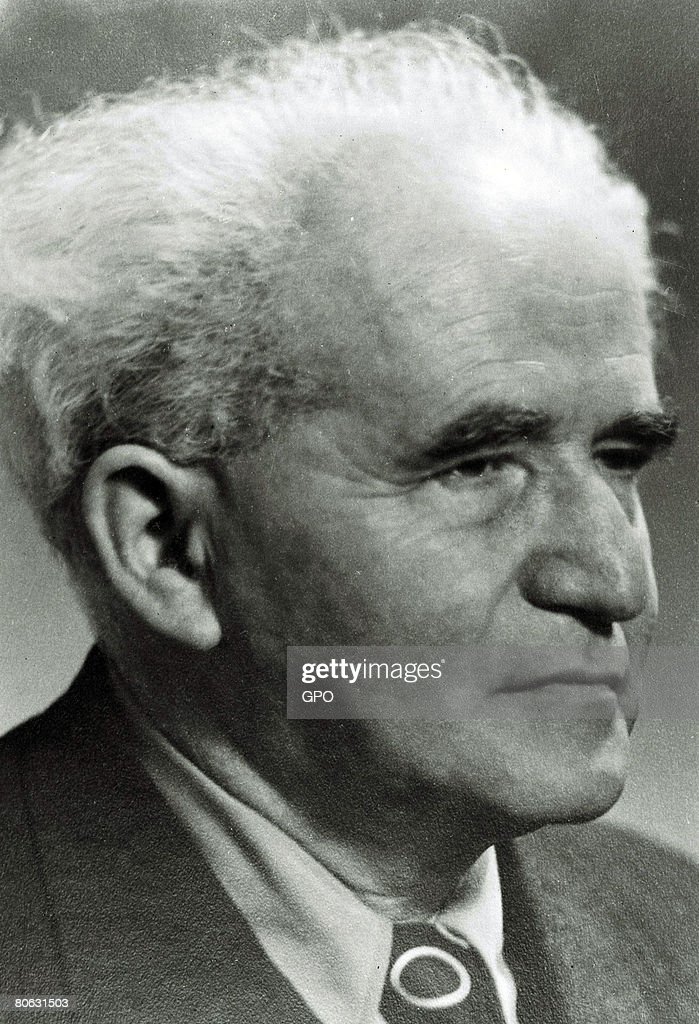 David Ben Gurion, the first Prime Minister of the Jewish State, on October 1, 1949 in Tel Aviv, Israel.