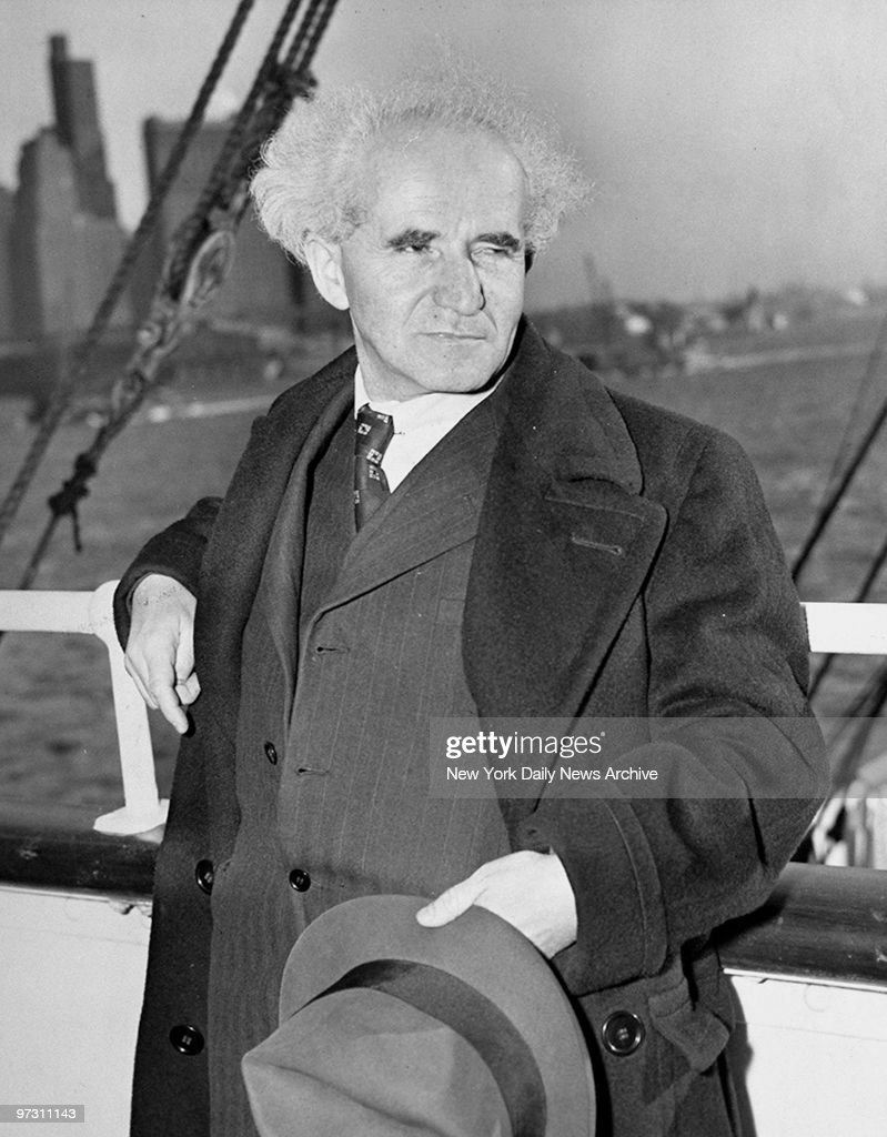 David BenGurion Executive Chairman of the Jewish Agency for Palestine aboard the SS Excambion