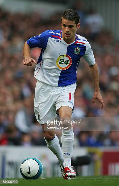 David Bentley of Blackburn Rovers in action during the Barclays Premier League match between Blackburn Rovers and Derby County at Ewood Park on May 3...