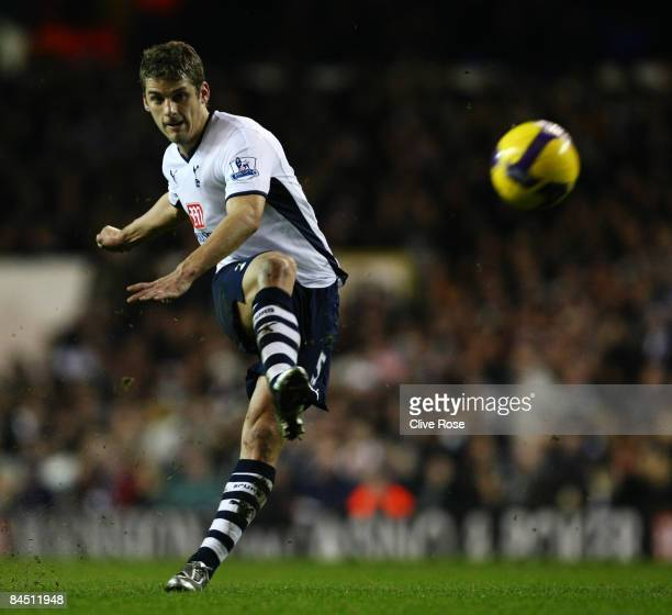 David Bentley of Tottenham Hotspur during the Barclays Premier League match between Tottenham Hotspur and Stoke City at White Hart Lane on January 27...