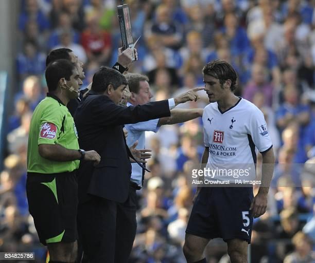 David Bentley Tottenham Hotspur Juande Ramos instructs David Bentley on the touchline