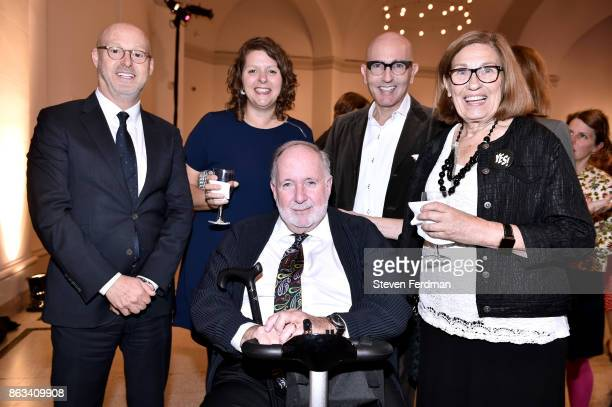 David Berliner Sharon Matt Atkins Arnold Lehman Tom Healey and Joan Marinaro attend the 2017 Yes Gala at Brooklyn Museum on October 19 2017 in New...