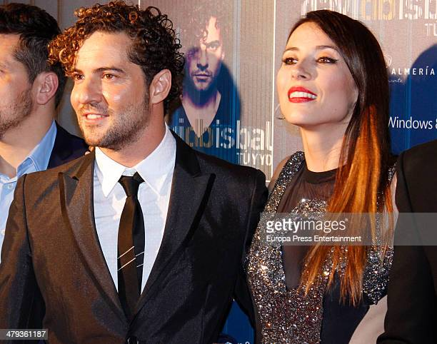 David Bisbal and Barbara Goenaga attend 'Tu y yo' by David Bisbal showcase photocall at Callao Cinema on March 17 2014 in Madrid Spain