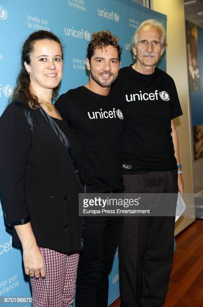 David Bisbal and Carmelo Angulo poses as Bisbal is named UNICEF ambassador on April 19 2017 in Madrid Spain