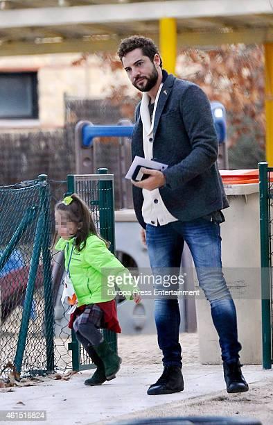 MADRID SPAIN DECEMBER17 David Bisbal and her daughter Ella Bisbal are seen on December 17 2014 in Madrid Spain