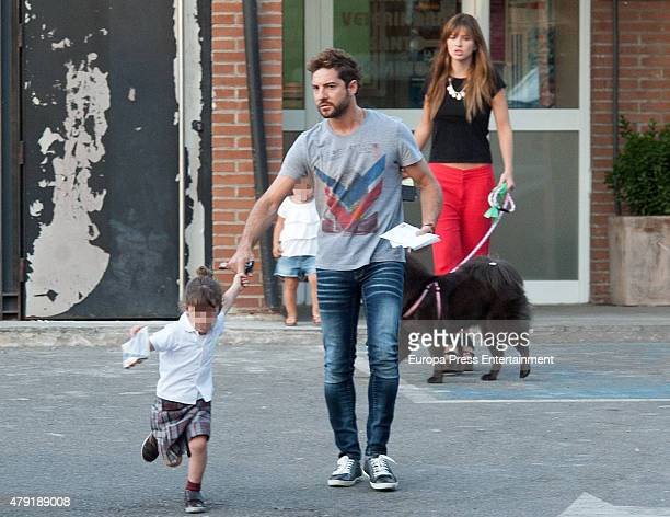 David Bisbal and his daughter Ella Bisbal and 'La China' Suarez and her daughter Rufina Cabre are seen on May 11 2015 in Madrid Spain