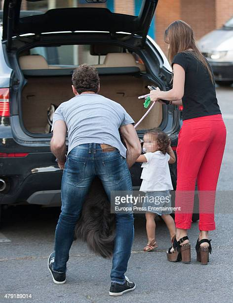 David Bisbal and 'La China' Suarez and her daughter Rufina Cabre are seen on May 11 2015 in Madrid Spain