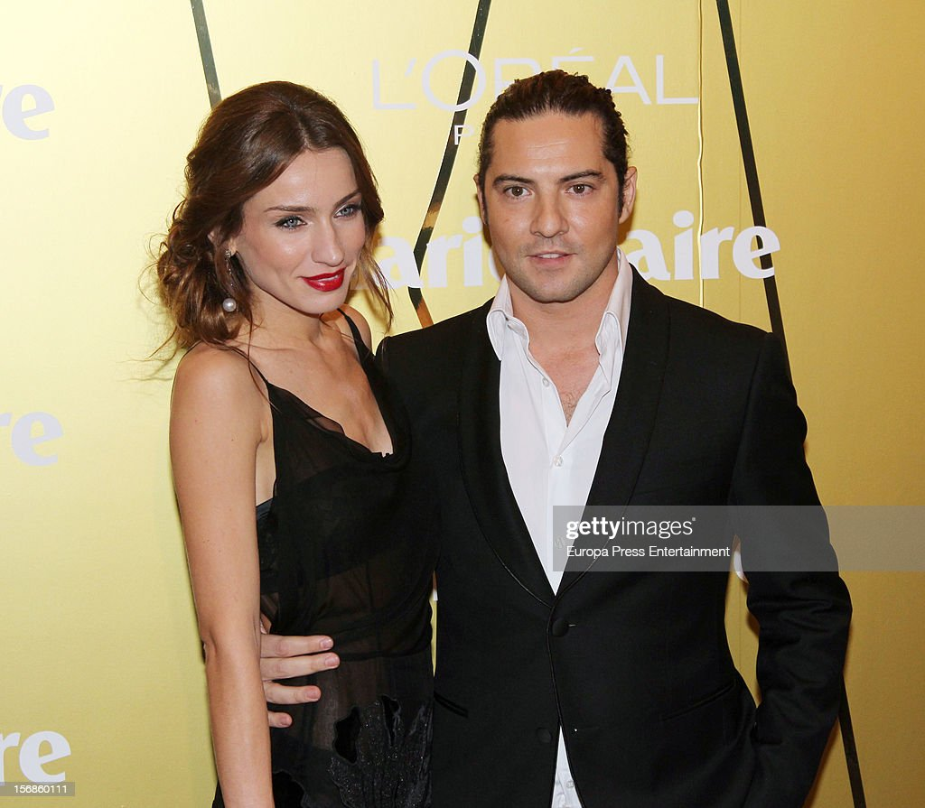 David Bisbal and Raquel Jimenez attend Marie Claire Prix de la Moda Awards 2012 on November 22, 2012 in Madrid, Spain.