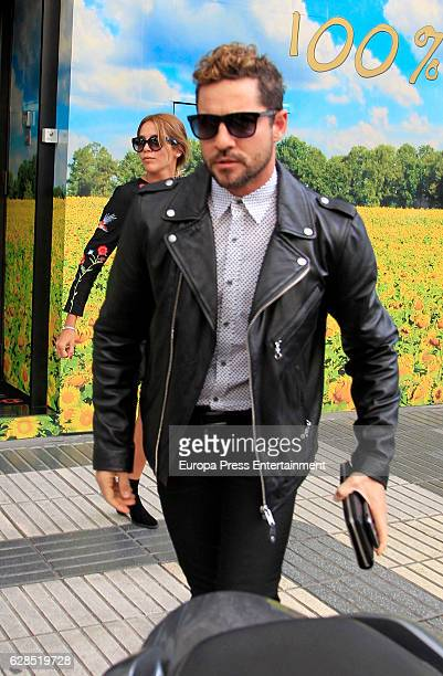 David Bisbal and Rosanna Zanetti are seen leaving a tannin center on November 7 2016 in Madrid Spain