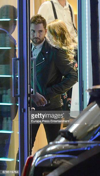 David Bisbal and Rosanna Zanetti are seen leaving a tanning center on November 7 2016 in Madrid Spain