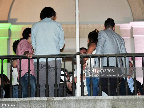 David Bisbal and Rosanna Zanetti attend Rod Stewart concert at Royal Theatre on July 5 2016 in Madrid Spain