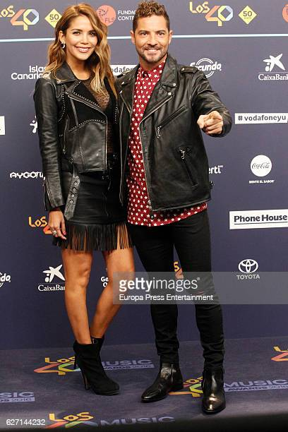 David Bisbal and Rosanna Zanetti attend the gala of Los 40 Music Awards 2016 on December 1 2016 in Barcelona Spain