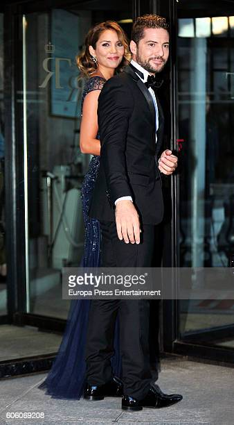 David Bisbal and Rosanna Zanetti attend the opening of the Royal Theatre new season on September 15 2016 in Madrid Spain
