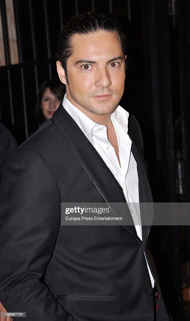 David Bisbal arrives at Marie Claire Prix de la Moda Awards 2012 on November 22, 2012 in Madrid, Spain.