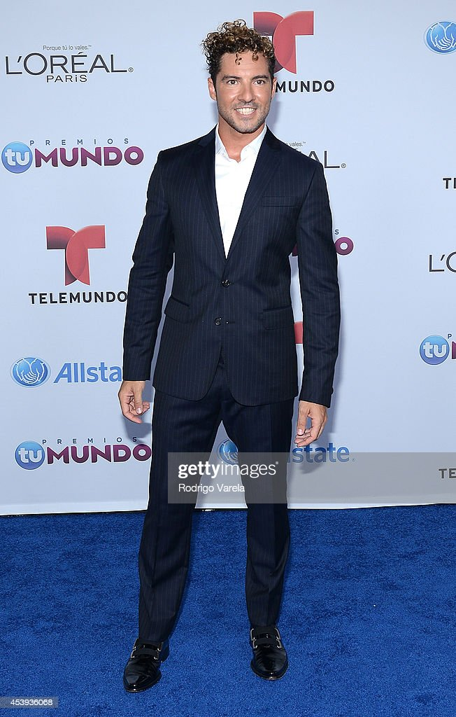 <a gi-track='captionPersonalityLinkClicked' href=/galleries/search?phrase=David+Bisbal&family=editorial&specificpeople=206469 ng-click='$event.stopPropagation()'>David Bisbal</a> arrives at Premios Tu Mundo Awards at American Airlines Arena on August 21, 2014 in Miami, Florida.