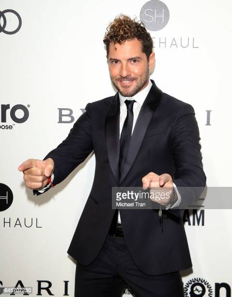 David Bisbal arrives at the 25th Annual Elton John AIDS Foundation's Oscar viewing party held at The City of West Hollywood Park on February 26 2017...