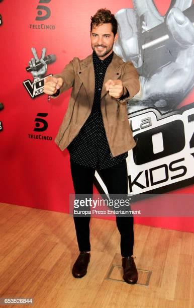 David Bisbal attends 'La Voz Kids 3' presentation on March 15 2017 in Madrid Spain