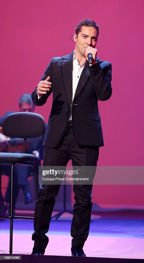 <a gi-track='captionPersonalityLinkClicked' href=/galleries/search?phrase=David+Bisbal&family=editorial&specificpeople=206469 ng-click='$event.stopPropagation()'>David Bisbal</a> attends Spanish Olympic Commitee Centenary Gala at El Canal Theatre on December 12, 2012 in Madrid, Spain.