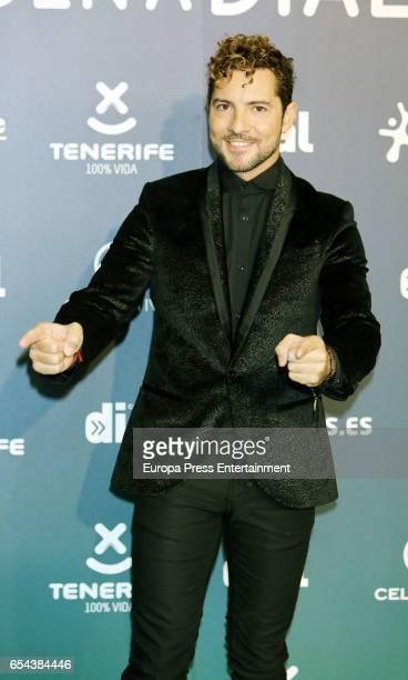 David Bisbal attends the 'Cadena Dial' awards photocall on March 16 2017 in Tenerife Spain