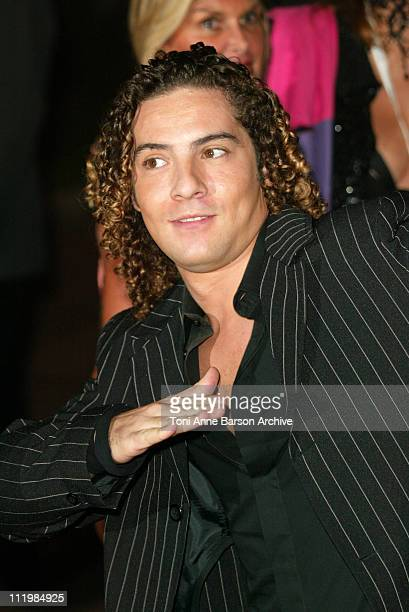 David Bisbal during 2003 Monte Carlo World Music Awards Arrivals at Monte Carlo Sporting Club in Monte Carlo Monaco