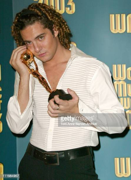 David Bisbal during 2003 Monte Carlo World Music Awards Press Room at Monte Carlo Sporting Club in Monte Carlo Monaco