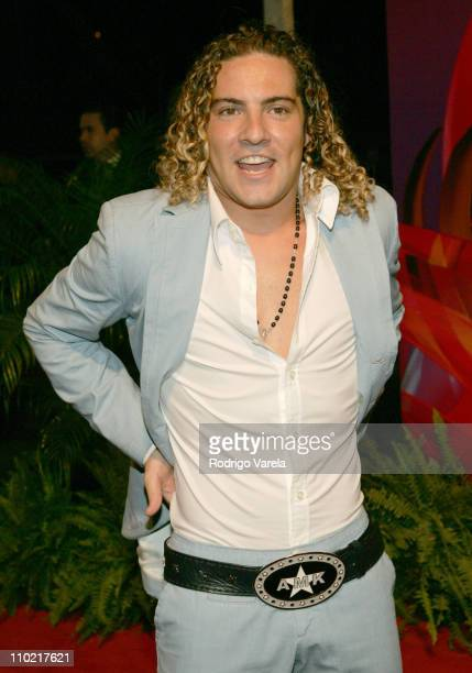 David Bisbal during 2005 Premio Lo Nuestro Awards Red Carpet at American Airlines Arena in Miami Florida United States