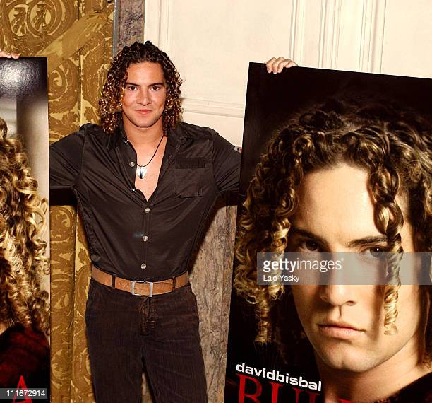 David Bisbal during David Bisbal Launches his New Album 'Buleria' at Ritz Hotel in Madrid Spain