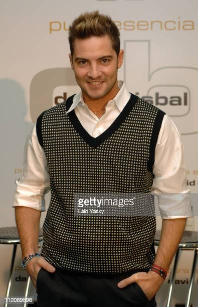 David Bisbal during David Bisbal Launches His New Fragrance 'Pura Esencia' at Circulo de Bellas Artes in Madrid Spain
