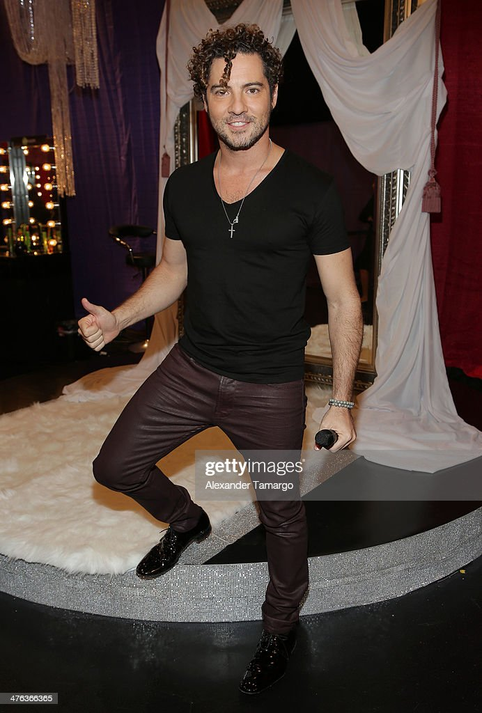 <a gi-track='captionPersonalityLinkClicked' href=/galleries/search?phrase=David+Bisbal&family=editorial&specificpeople=206469 ng-click='$event.stopPropagation()'>David Bisbal</a> is seen attending the premiere show of Univision's Nuestra Belleza Latina at Univision Headquarters on March 2, 2014 in Miami, Florida.
