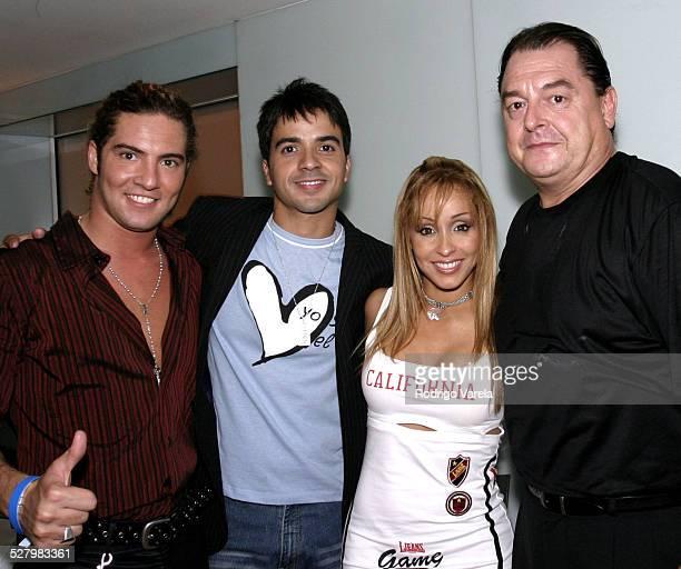 David Bisbal Luis Fonsi Gisselle and John Echevarria