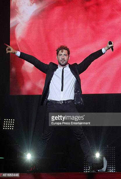 David Bisbal performs in concert in Madrid on July 3 2014 in Madrid Spain