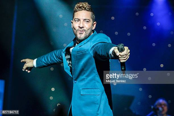 David Bisbal performs on stage during the presentation of his new album 'Hijos del Mar' at cruise ship on December 2 2016 in Barcelona Spain