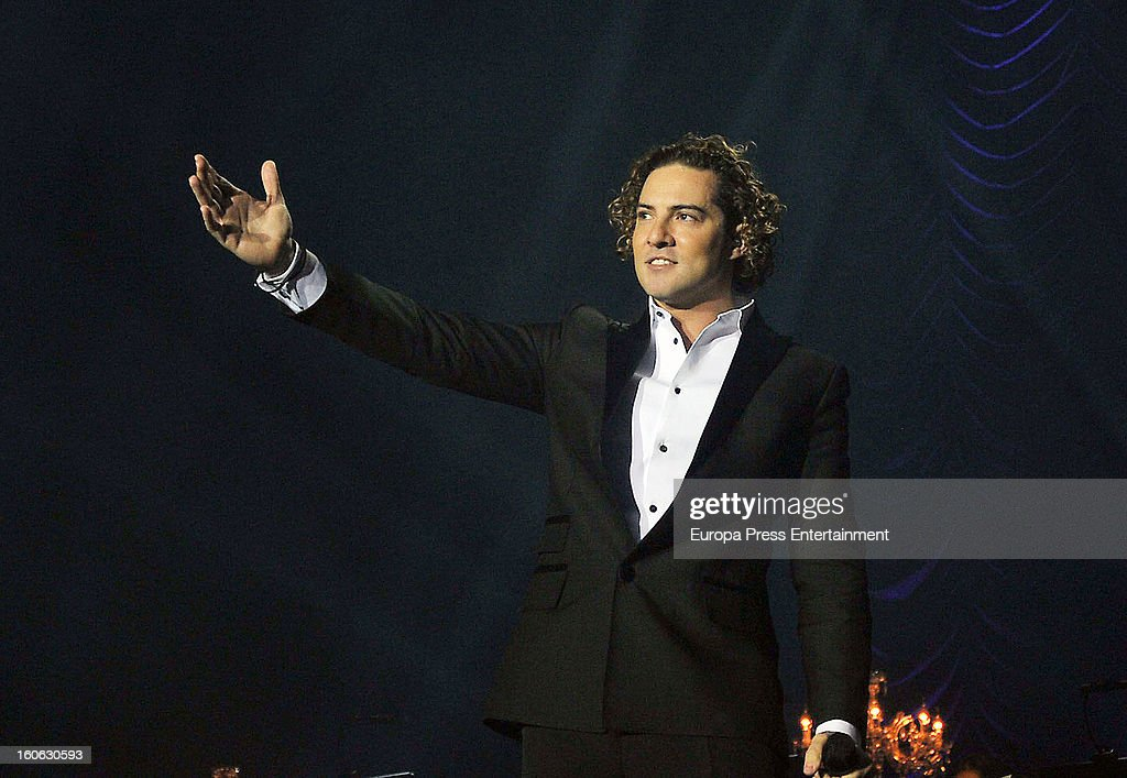 David Bisbal performs on stage on February 2, 2013 in Barcelona, Spain.