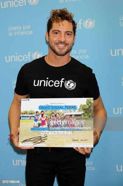 David Bisbal poses as he is named UNICEF ambassador on April 19 2017 in Madrid Spain