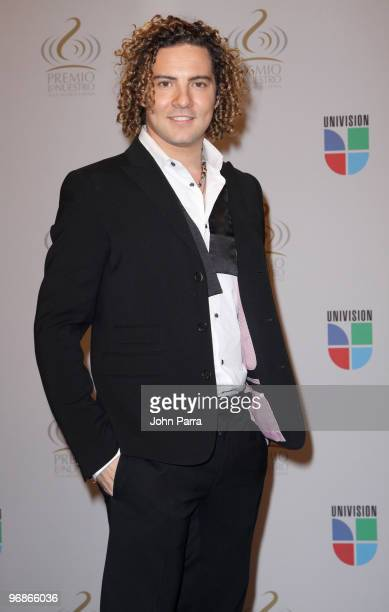 David Bisbal poses in the press room at Univisions 2010 Premio Lo Nuestro a La Musica Latina Awards at American Airlines Arena on February 18 2010 in...