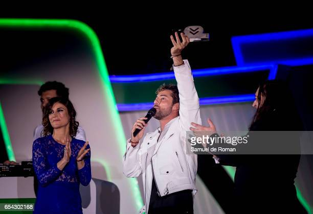 David Bisbal receives an award at the Cadena Dial Awards on March 16 2017 in Tenerife Spain