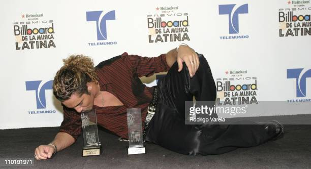 David Bisbal winner of Latin Pop Artist of the Year New Artist for his album 'Corazon Latino' and Telemundo's Viewer's Choice Award