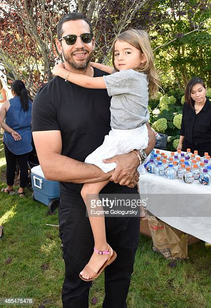 David Blaine and Dessa Blaine attend the Petit Maison Chic Charity Fashion Show Benefiting Beyond Type 1 on August 27 2015 in Bridgehampton New York
