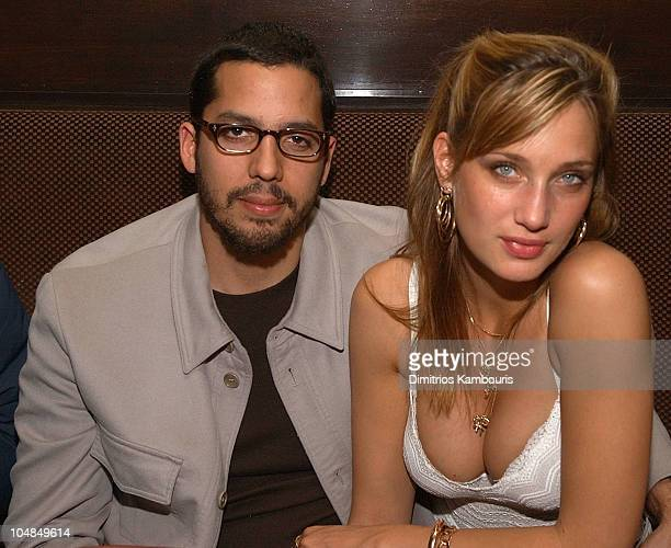David Blaine and guest during World Premiere Screening of 'The Ali G Show' at Lot 61 in New York City New York United States