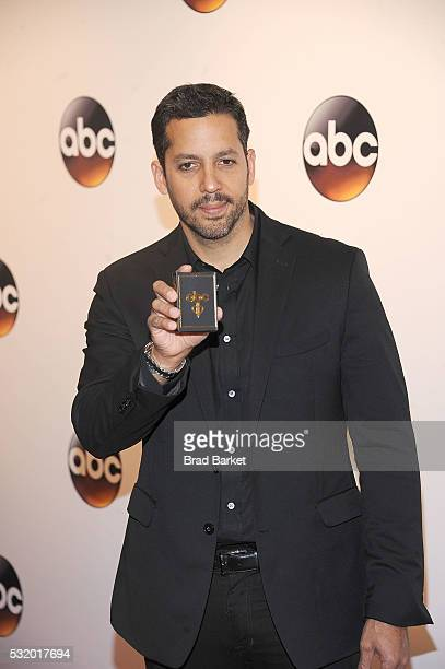 David Blaine attends the 2016 ABC Upfront at David Geffen Hall on May 17 2016 in New York City