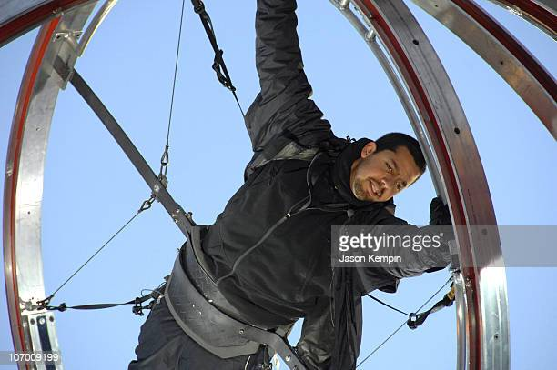 David Blaine during David Blaine Begins His Target Challenge To Benefit The Salvation Army November 21 2006 at Times Square in New York City New York...