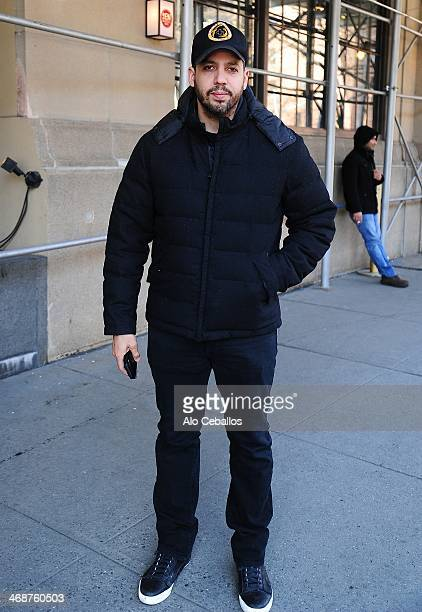 David Blaine is seen in Soho on February 11 2014 in New York City