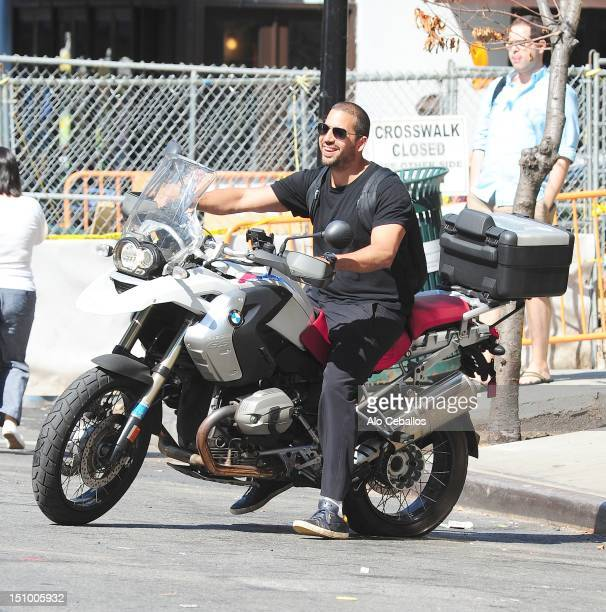 David Blaine is seen in Tribeca at Streets of Manhattan on August 30 2012 in New York City