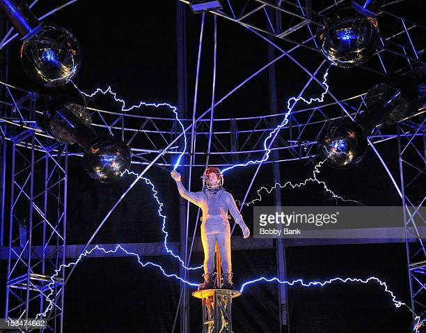 David Blaine seen during the 'Electrified One Million Volts Always On' at Pier 54 on October 5 2012 in New York City