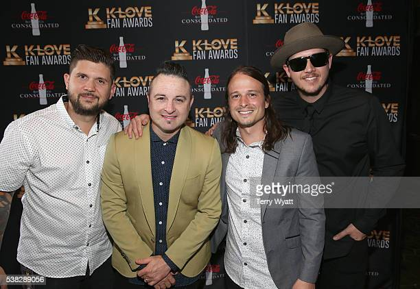 David Blake NeeSmith Allen Stanford Dukes Joseph Dustin Daniels and Joshua Duckworth of Finding Favour attends the 4th Annual KLOVE Fan Awards at The...