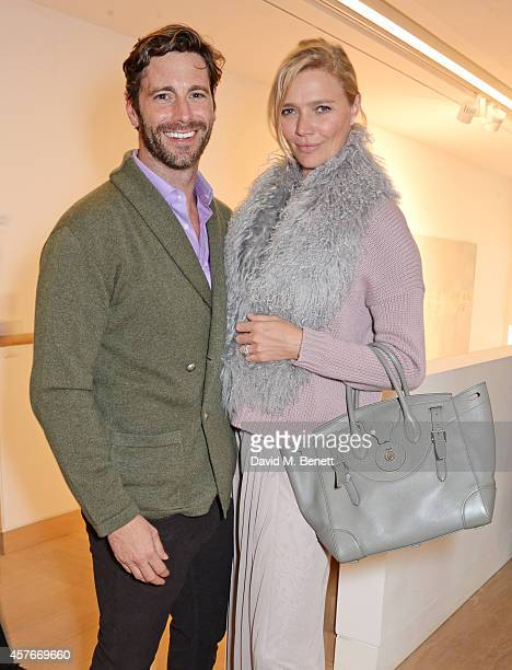 David Blakeley and Jodie Kidd attend the Ralph Lauren Fall 2014 Collection fashion and accessories presentation in celebration of the new Phillips...