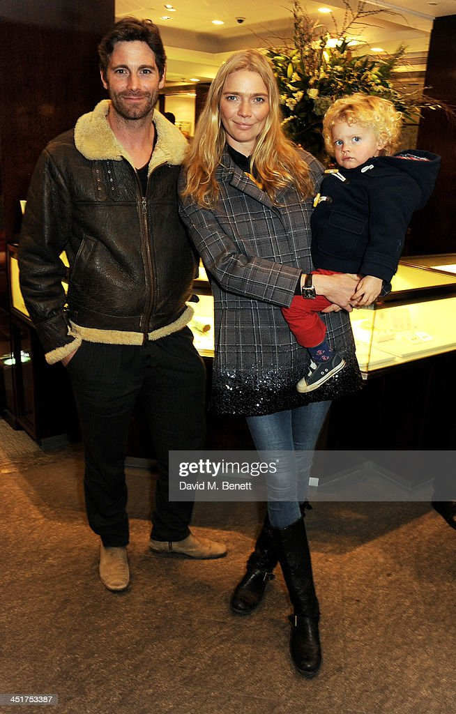 David Blakeley, Jodie Kidd and her son Indio attend as Joely Richardson officially opens the Tiffany & Co. Christmas Shop on Bond Street, London on November 24, 2013 in London, England.