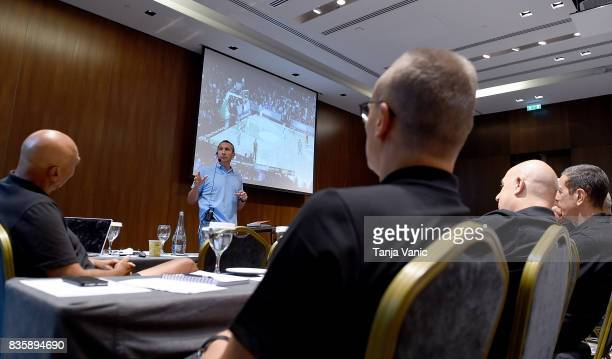 David Blatt Darussafaka Head Coach addresses to the participants during the 26th Clinic for Euroleague Basketball Officials at Metropol Palace Hotel...