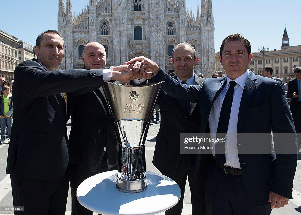 David Blatt Head Coach of Maccabi Electra Tel Aviv Pablo Laso Head Coach of Real Madrid Ettore Messina Head Coach of CSKA Moscow and Xavi Pascual...